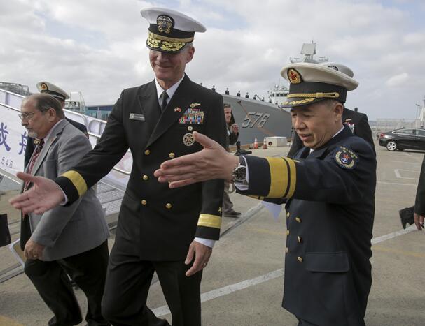 中国舰艇编队抵美 系美大选后解放军首次访美