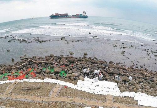 台货轮漏油污染北海岸船商重启抽油作业(图)