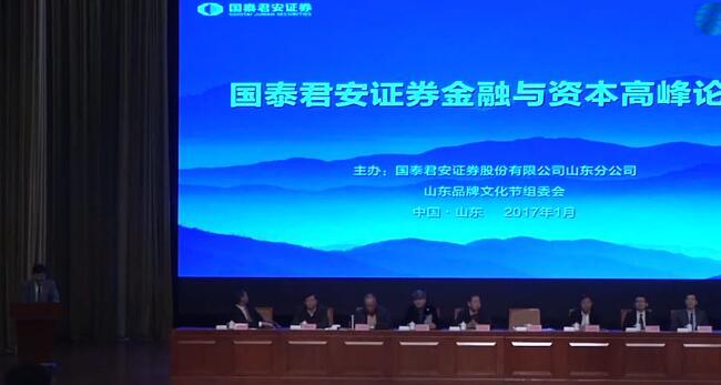 第八届山东品牌文化节国泰君安金融与资本高峰论坛