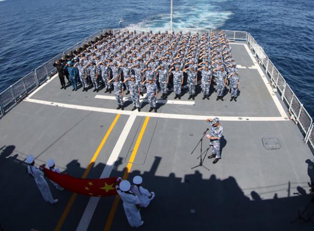 中俄在日本海举行海上联合军演