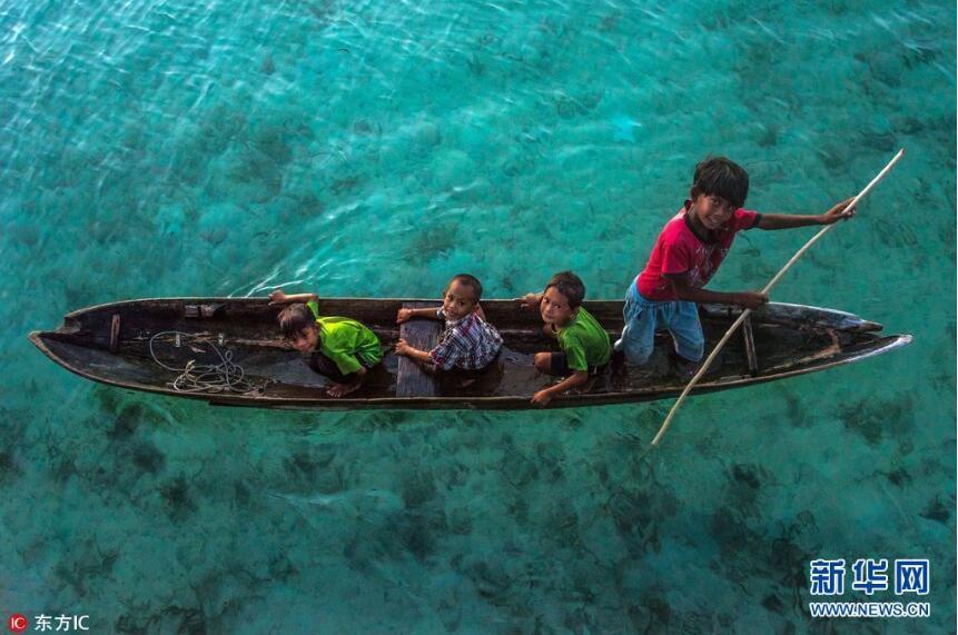 海阔天空竞自由!摄影师拍巴瑶族人海上漂流生活