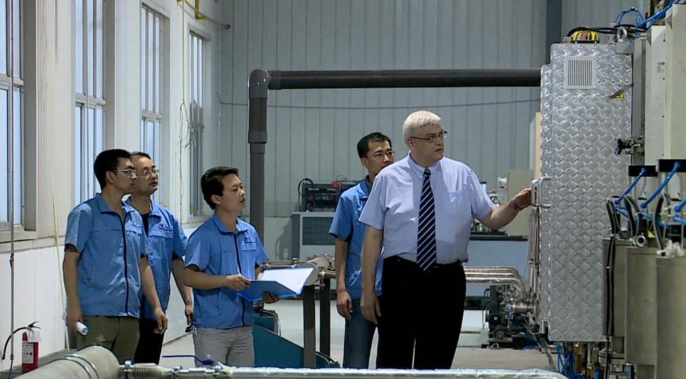 《藍色經濟對話》走進山東匯銀新能源科技有限公司