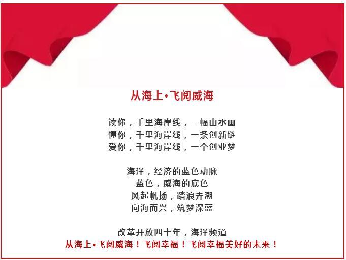 改革開放40年,40集歷史印記紀實片 《從海上·飛閱威海》國慶!我們起飛!