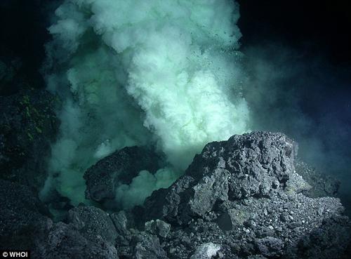 关岛喷发毒气海底活火山成海洋生物乐园(组图)