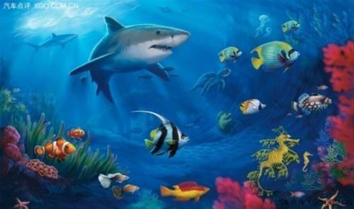 壁纸 海底 海底世界 海洋馆 水族馆 桌面 500_296