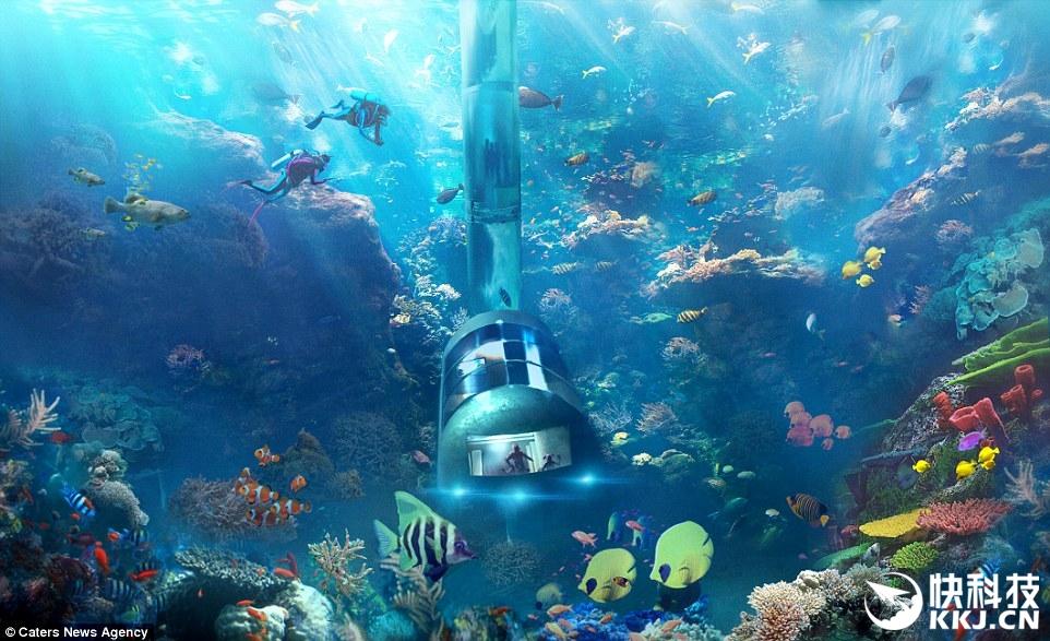 太科幻了:美国人设计的海底旅馆