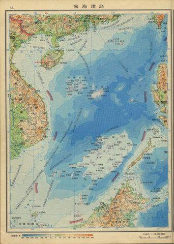 年南海诸岛地图