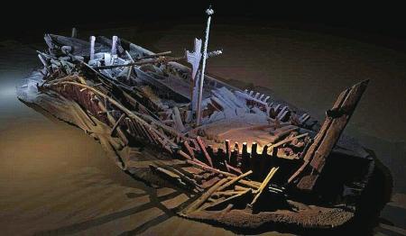 黑海发现40多艘中世纪沉船