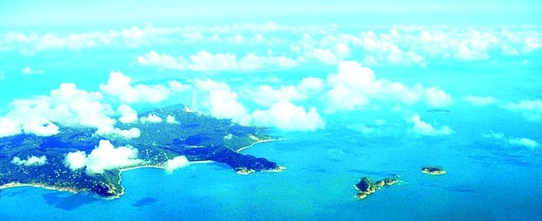 南沙诸海岛卫星图